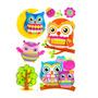 Sticker Infantil 3d Buhos Morph