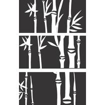Vinilo Pared Siluetas Bambú Decoracion Wall Stickers
