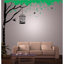 Vinilo Pared Arbol Y Hojas Decoración Wall Stickers