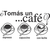 Vinilo Pared Cafe Cocina Decoracion Wall Stickers