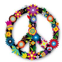 Vinilo Adhesivo Decorativo Paz Con Flores