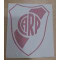 Escudo River Plate Vinilo Calco Autoadhesivo Vidrio Azulejo