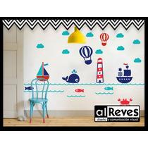 Vinilos Decorativos Para Nenes Autos Barcos Y Dinosaurios