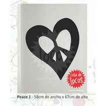 Vinilo Decorativo Símbolo Peace Paz - Stickers - Calcos