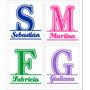 Nombres En Vinilo Autoadhesivo - Monogramas