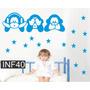 Vinilos Decorativo Infantiles Mono Nena Nene Bebe Dormitorio