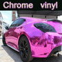 Vinilo Ploter Autoadhesivo Cromado Rosa Autos Tuning 50x20cm