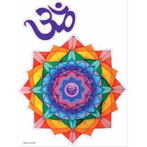 Vinilo Decorativo Adhesivo Mandala Color. Med Plancha 30x40