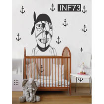 Vinilos Decorativos Infantiles Piratas Bebe Nene