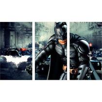 Batman Cuadros Trípticos Modernos