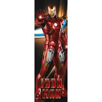 Baner De Puerta Iron Man. 55 X 170 Cm. Autoadhesivo