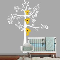 Vinilo Para Pared - Decorativo Infantil Arbol Koalas