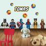 Vinilo Decorativo Infantil Personajes Lego. Con Tu Nombre!