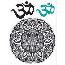 Vinilo Decorativo Adhesivo Mandala Bn. Med Plancha 30x40