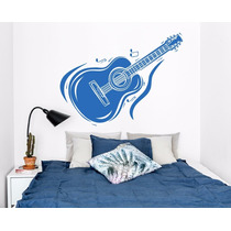 Vinilo Guitarra Musica Decoracion De Pared, Interiores Mural