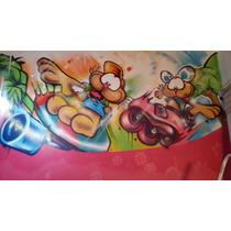 Murales Infantiles Graffiti Letrista Pintados No Vinilo