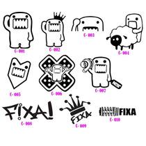 Calcos Para Autos - Domo Sticker - Fixa Bora Club Hellaflush