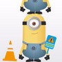 Vinilo Decorativo. Minion Medidor