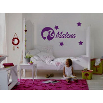 Vinilo Pared Barbie Logo Infantiles Wall Stickers