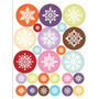Vinilo Decorativo Adhesivo Navidad Copos Color. Med.30x40
