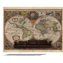 Vinilo Mural Mapamundi Fotomural Mapas Del Mundo Gigantes