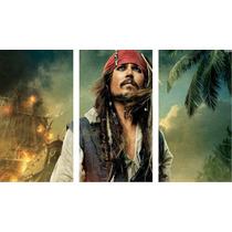 Cuadros Trípticos Jack Sparrow Piratas Del Caribe