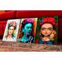 Set De Cuadros Artesanales Frida Kalho. Arte. Decoración.