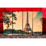 Cuadros Modernos Paris Vintage Retro Paisajes. Torre Eiffel
