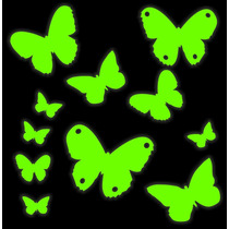 Set Mariposas 1.8m2 Vinilo Decorativo Brilla En La Oscuridad