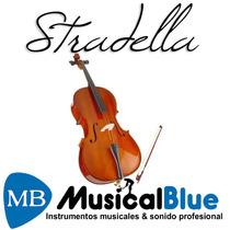 Violoncello Macizo Stradella Mc601244 -4/4 Tapa Pino Carved,