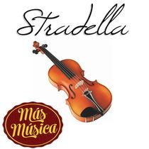 Stradella Mv1412 Violin 4/4 Tapa De Pino Estuche Arco Resina