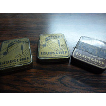Antiguas Tres Cajas De Púas Para Vitrola Laubscher