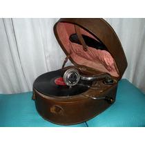 Fantastica Vitrola Oval Gramofono