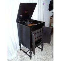 Preciosa Antigua Victrola Americana Victor Gramofono De Pie