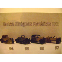 Set Autitos Metalicos Old Timer - Kinder -