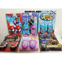 Walkie Talkie Transmisor Receptor Cars Spiderman Princesa Ki