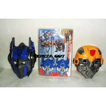 Walkie Talkie De Transformers Robot + Mascaras Con Luces