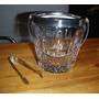 Hielera Para Whisky Vidrio Tallado Y Virola Metal C/pinza