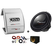 Combo Potencia Boss + Woofer Pioneer Tsw310 + Caja+cables