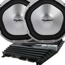 Combo Subwoofer Sony 1000w X2 + Cajon + Potencia Sony Explot