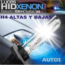 Kit Luces Bixenon H4 6000k Oferta+ Led Regalo X2 Garantia 1