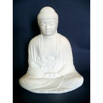 Buda Hindu Meditando En Yeso Grande Para Pintar 26 Cm.