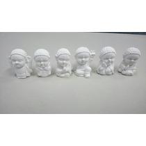 Budas Bebé Mini Juego X6 Unidades En Yeso Blanco Para Pintar