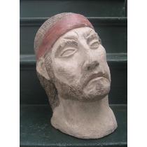 Escultura Figura Busto Masculino Indio Gaucho Cabeza