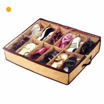 Organizador De Zapatos 12 Pares Bajo Cama O Placard Zapatero