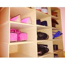 Organizador De Zapatos En Mdf /pack 4 Unidades