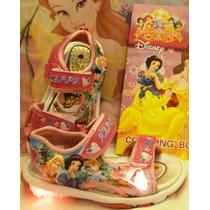 Sandalias Princesas Con Luces Y Bolsa De Regalo