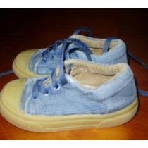Zapatillas Tilers Azul Claro Talle 23 De Corderoy Divinas