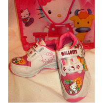 Zapatillas Kitty 10 Con Luces + Bolsa De Regalo