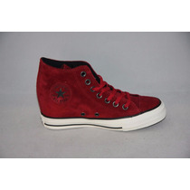 Zapatillas Converse Cuero All Star Lux !! Taco Escondido !